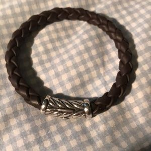 Men's David Yurmin Brown rubber bracelet